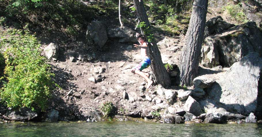 Cultus Lake - South end rope swing.