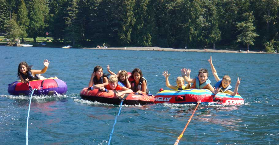 Cultus Lake Cottage - Boating, tubing, wakeboarding, surfing.